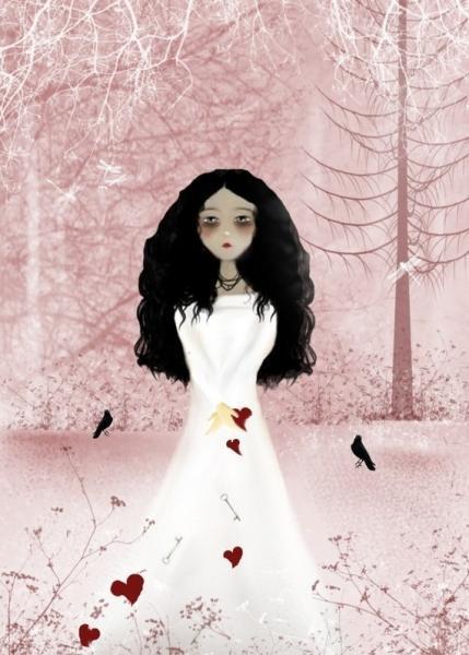 Melancholy Girl Art Print -- From The Heart