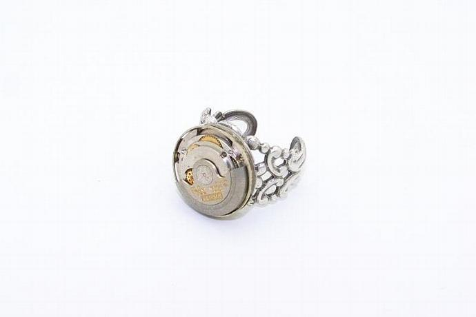 Bulova Rotating Movement Steampunk Ring