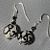 Black and White Swirls Glass Earrings-9035