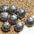 Pewter Disk Beads with Design (9-2262)