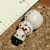 Large Ceramic Snowman Beads
