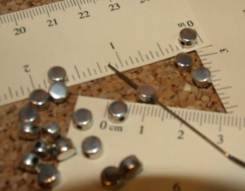 Metalized Disk Beads