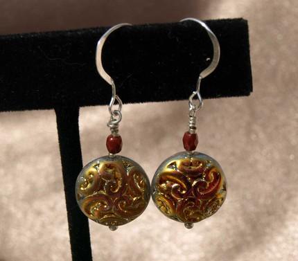 Sparkle Coin Earrings-9011