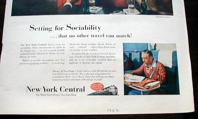 1952 Life Magazine Ad-New York Central