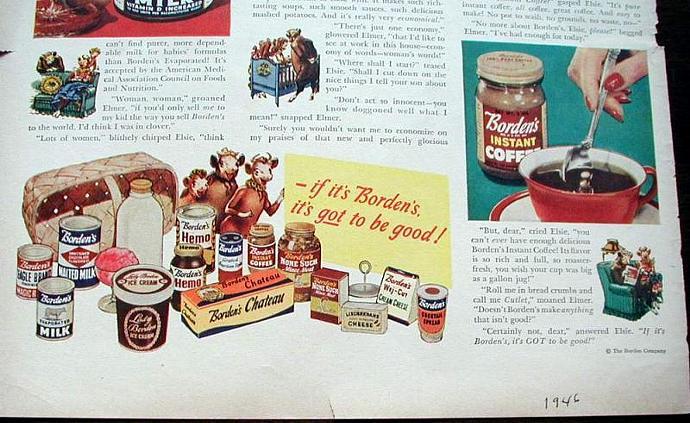 1946 Life Magazine Ad-Elsie, the Borden Cow