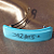 Elegant Blue Fused Glass Barrette (93094F)