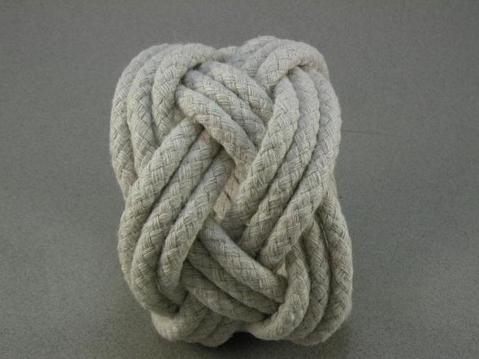 chunky three strand oversize adjustable rope bracelet 1360