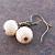 Snowballs Textured Glass Earrings
