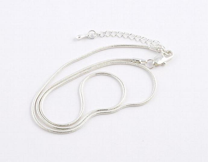 Silver Plated Snake Chain Necklace