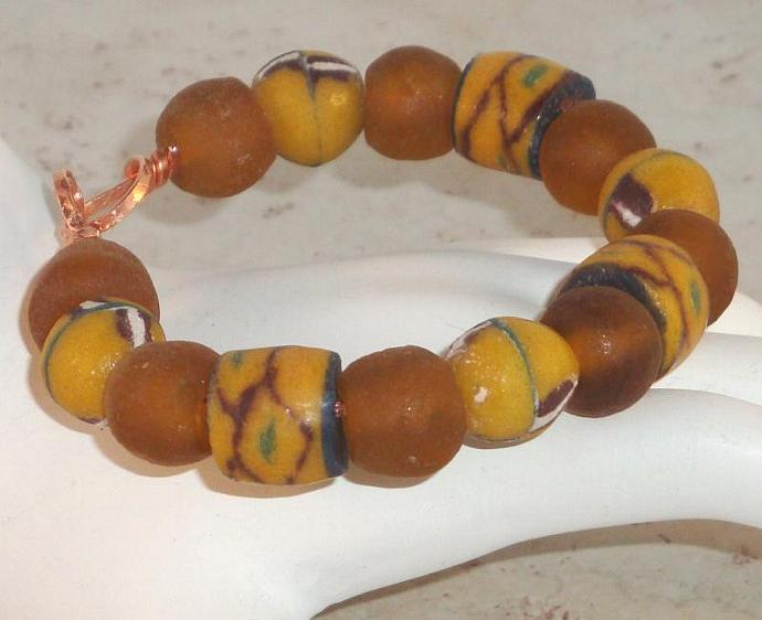 Krobo Recycled Glass  Bracelet