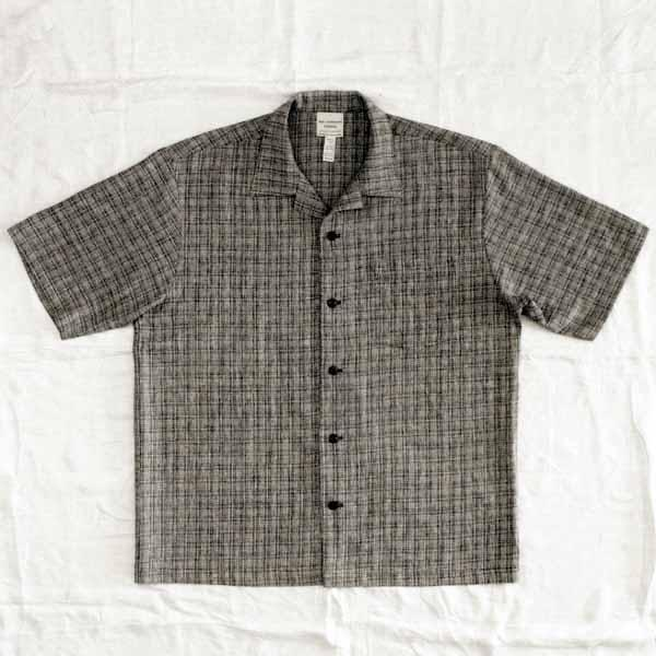 Black & White Micro-Plaid Shirt - Size S, M, L