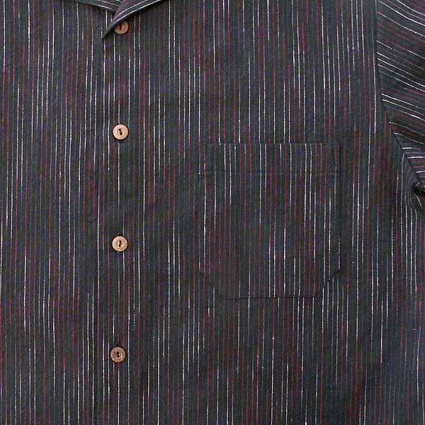 Black Pinstripe Shirt - Size M, L