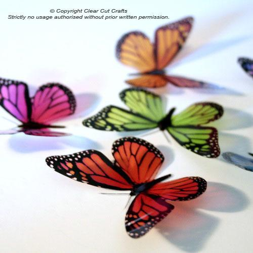 12 pack of B001S Monarch Butterflies for Weddings, Decorations, Nurseries,