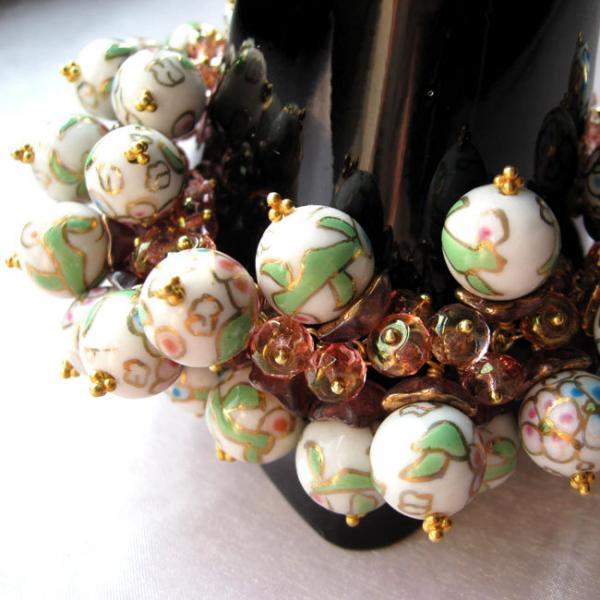 Rose Porcelain Beads Bracelet, Homer's Young Dawn