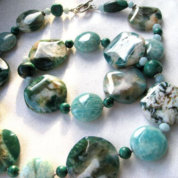Green Agate & Amazonite Earthsea Necklace