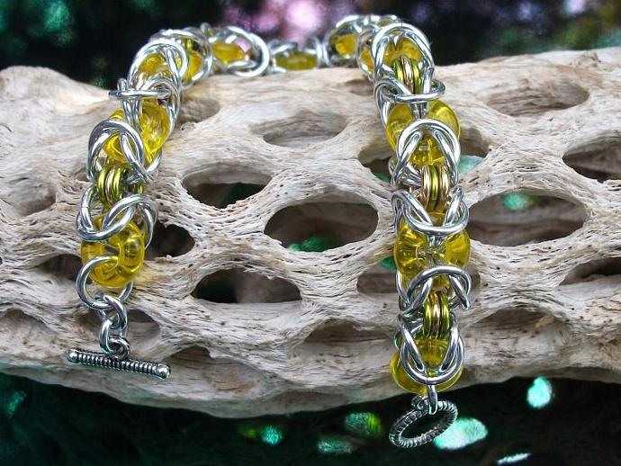 Yellow Glass and Aluminum Byzantine