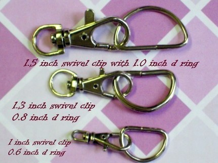 15 Nickel Plated Lobster Swivel Clasps - 1 INCH