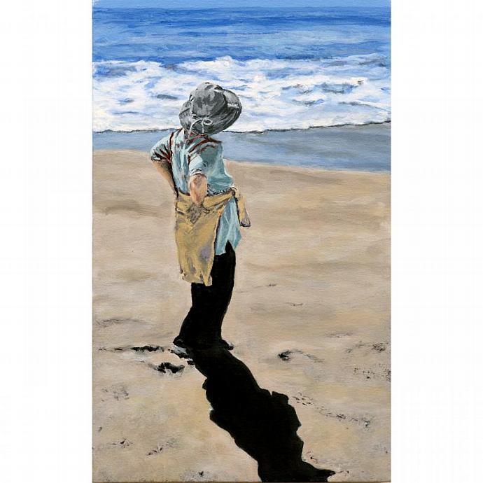 A  Walk On The Beach (Original Portrait)