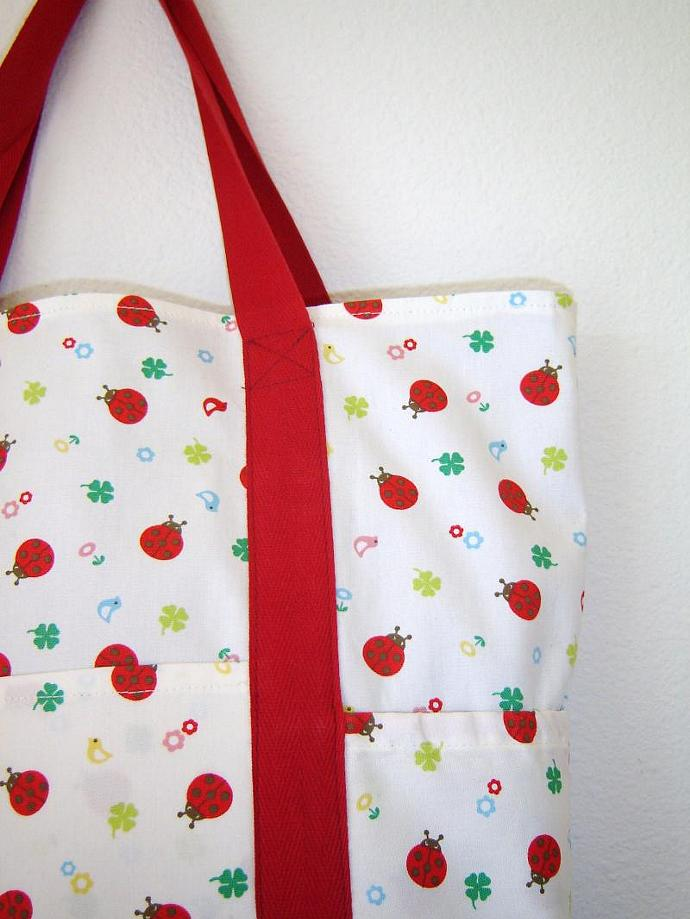 Ladybug Grocery Tote