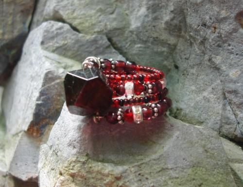 Garnet Memory Cocktail Ring