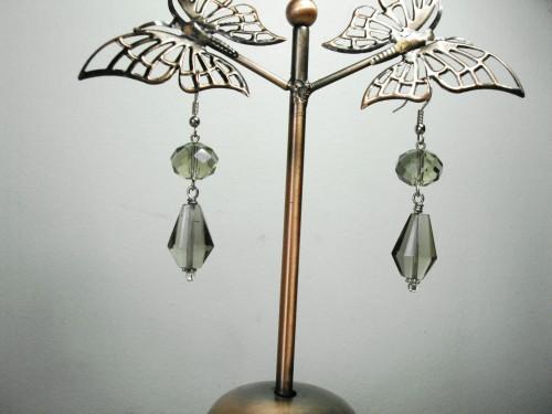 Smokey Quartz Crystal Earrings