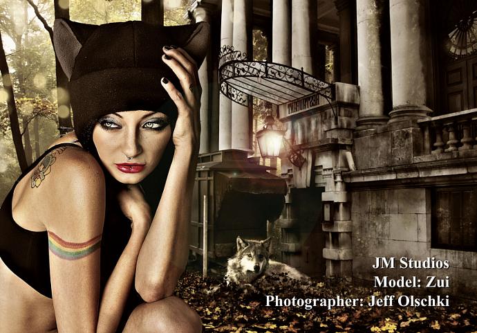BLACK / GREY KITTY CAT AVIATOR ear flap fleece Hat