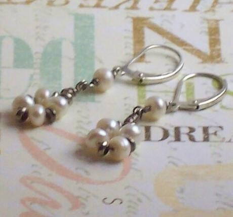Freshwater Pearl Earrings Sterling Silver