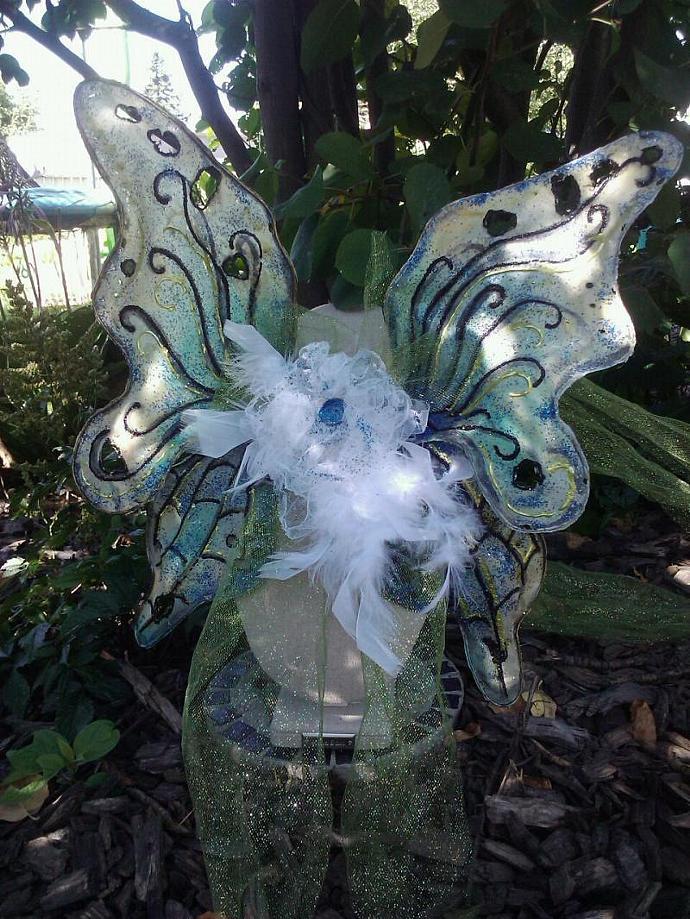 Blue Butterfly Wings