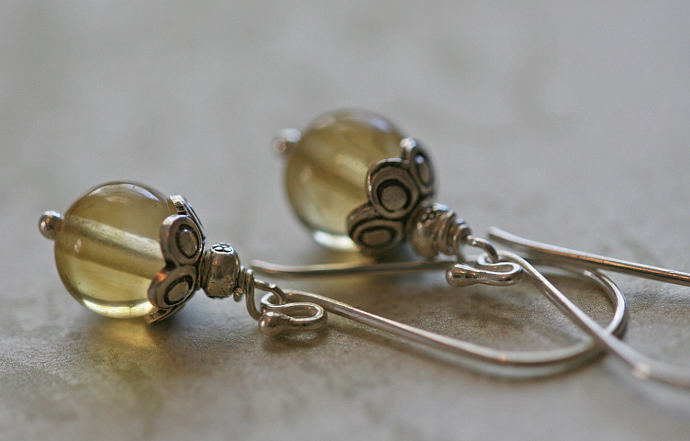 Yummy LEMON DROP Sterling Silver Earrings