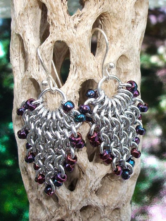 Burgundy Grapevine Earrings