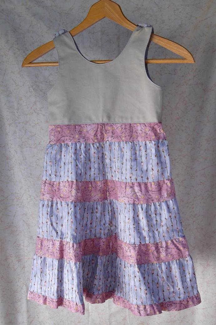 Pink, Blue, and Tan Jumper or Sundress