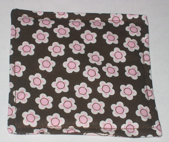 4 Retro Pink Flower Paisley Coasters