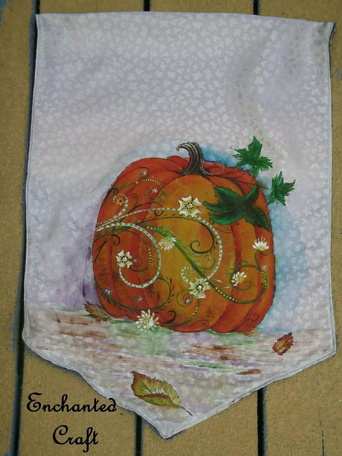 Autumn Harvest Pumpkin Banner get it personalized