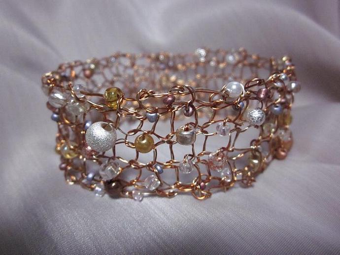Handcrafted Jewelry Handmade Designer Knit Wire Bracelet
