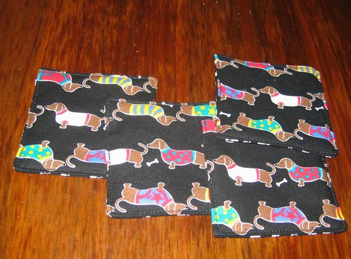 4 Dachshund Doxie Dog Coasters