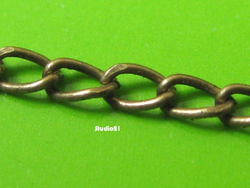 5 feet of Antique Brozne Finish Curb Chain