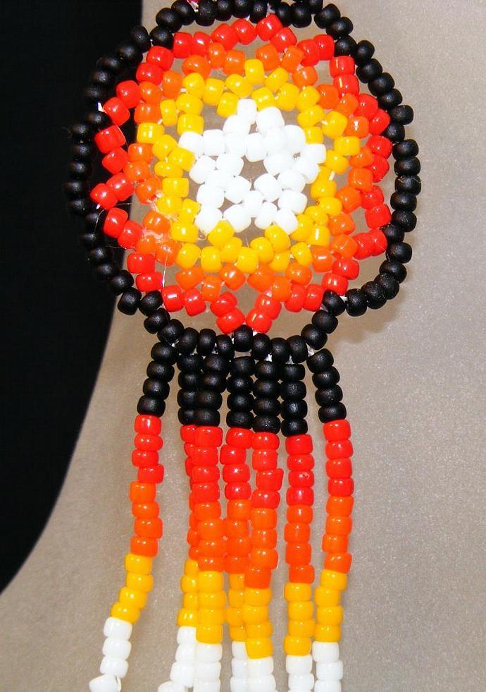 Sonoran Sunset Mandala Shield Earring