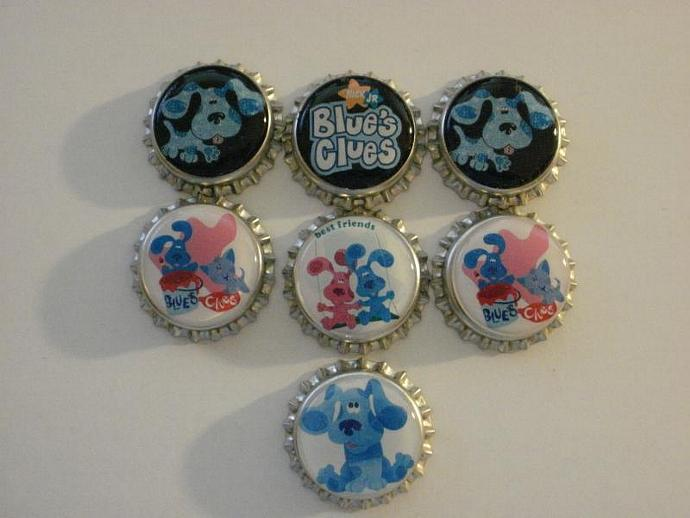 Blues Clues Finished Bottle Caps - 7