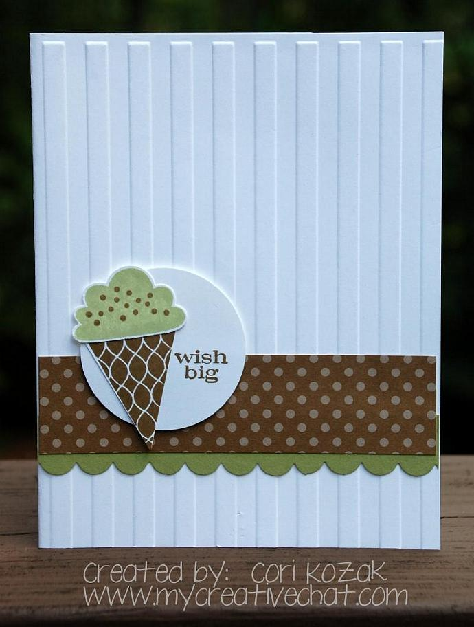 Ice Cream Wishes Birthday Card