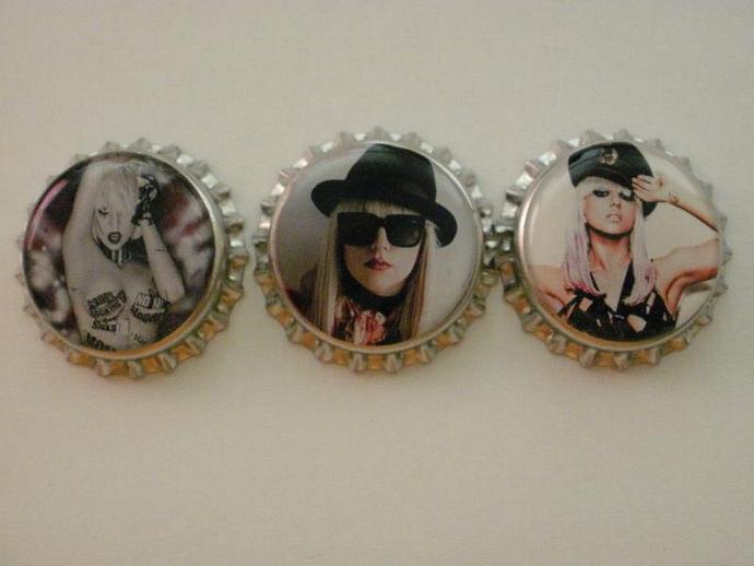 Lady Gaga Finished Bottle Caps - 10