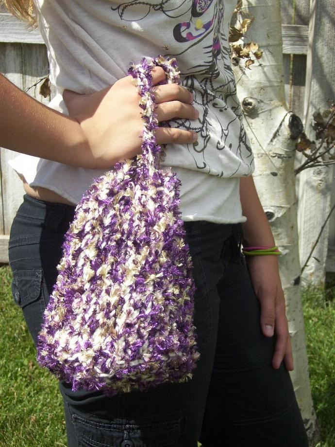 Purple & Gold Cinch-Sac Purse