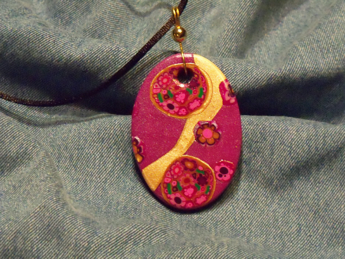 Basket of Flowers & a River of Gold Pendant
