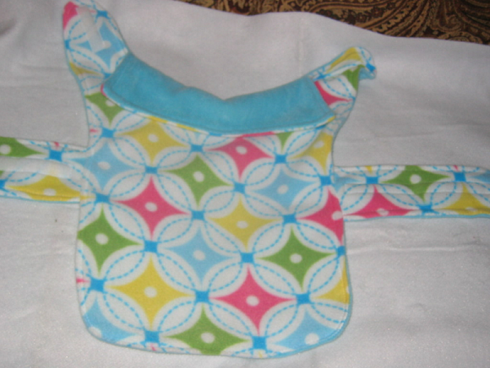 Pastel Diamonds Dog Coat Reversible Fleece