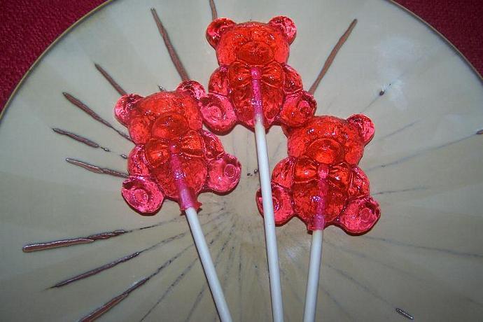 10 Teddy Bear Lollipops Sucker Baby Shower Party Favor