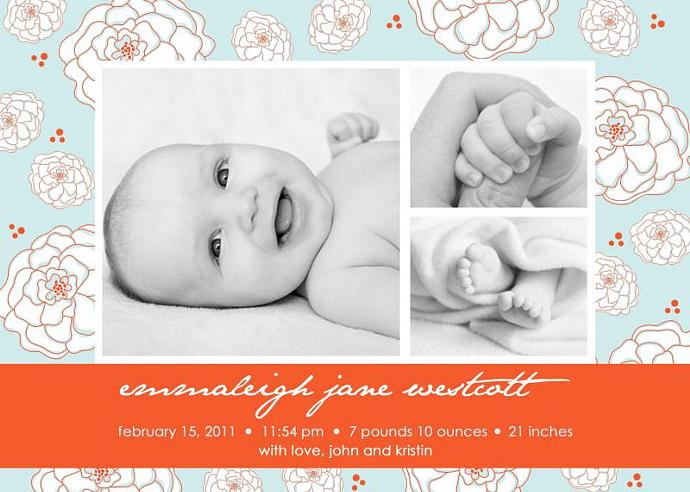 Custom Printable Package...Creamsicle Collection...includes Personalized Birth