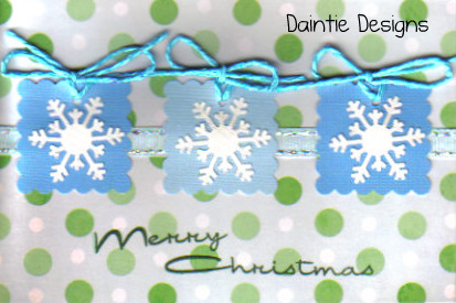 Snowflake Merry Christmas Greeting Card