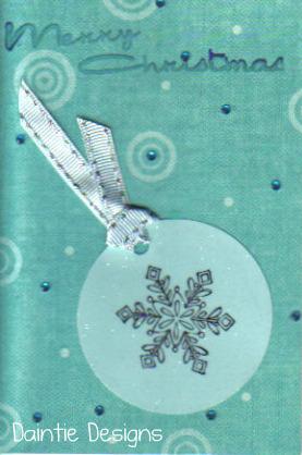 Merry Christmas Snowflake Greeting Card