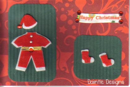 Santa Suit Greeting Card