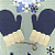 Blue Mittens Greeting Card