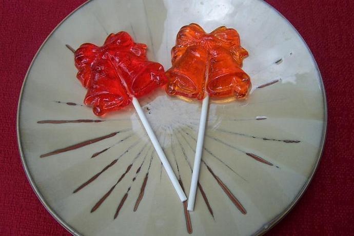 10 Bell Lollipop Sucker Party Wedding Favor
